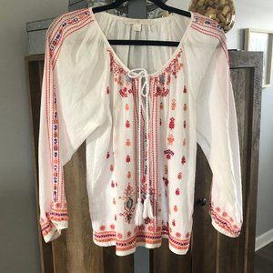 Boston Proper Boho Beaded Sleeves Size XS